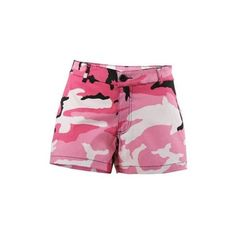 Rothco Womens Pink Camo Short Shorts, Medium Walmart.com ($20) ❤ liked on Polyvore featuring shorts, pink camo shorts, camoflauge shorts, camoflage shorts, hot shorts and rothco