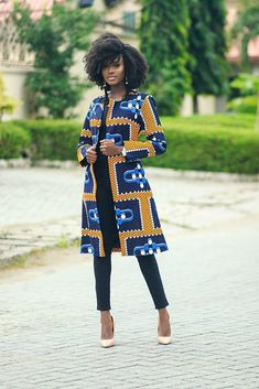 Rekia Duster Jacket - Jackets multicolour for her ankara African wax CottonDuster JacketNo button (only on request )Fully lined African Fashion Ankara, Ghanaian Fashion, African Inspired Fashion, Latest African Fashion Dresses, African Dresses For Women, African Print Fashion, Africa Fashion, African Attire, African Prints
