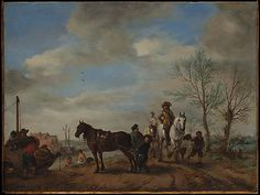 A Man and a Woman on Horseback  Philips Wouwermans  (Dutch, Haarlem 1619–1668 Haarlem)  Date: ca. 1653–54