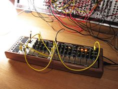 MakeNoise Pressure Points touch controllers in a skiff case.
