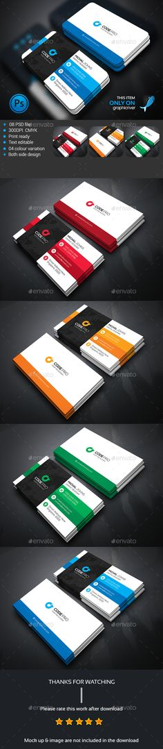 Mega Corporate Business card Template PSD #design Download: http://graphicriver.net/item/mega-corporate-business-card/13683109?ref=ksioks