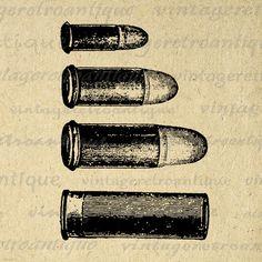 Digital Printable Bullet Collection Graphic Collage Sheet Image Ammo Download Vintage Clip Art Jpg Png Eps 18x18 HQ 300dpi No.1351 @ vintageretroantique.etsy.com #DigitalArt #Printable #Art #VintageRetroAntique #Digital #Clipart #Download