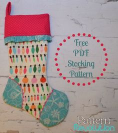 by The Woolen Needle 10  X 18  - This fun and easy stocking goes ... : quilted christmas stockings free patterns - Adamdwight.com