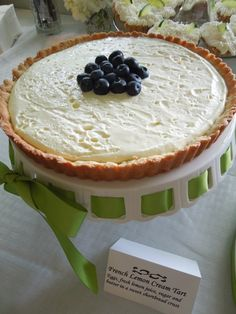 """Lemon Cream Tart"" #spring #recipe #lemon"