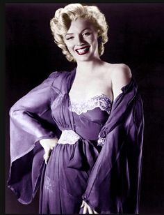 Marilyn Monroe. Had this photo in b/w on my wall for a long time