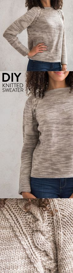 Conquer knit cables with this relaxed-fit raglan sweater.