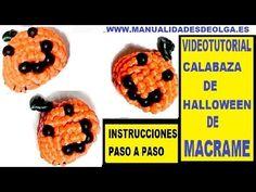 COMO HACER UNA CALABAZA DE HALLOWEEN DE MACRAME CON HILO. TUTORIAL DIY. ...
