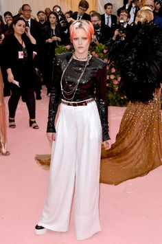 Livia Firth Wears the Ultimate Recycled Look to the Met Gala - Vogue Serena Williams, Kristen Stewart, Cannes, Harry Styles, Lace Skirt, Sequin Skirt, Susan Sontag, Met Gala Red Carpet, Vogue
