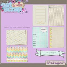 free project life cards | free project life journaling cards via catscrap | PL 2013