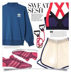 """Sweat Sesh: Gym Style"" by dolly-valkyrie ❤ liked on Polyvore featuring adidas Originals, adidas and sweatsesh"