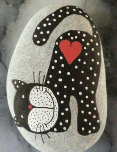 Polka dot kitty rock