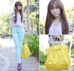 Pastels (by Camille Co) http://lookbook.nu/look/3423587-Pastels