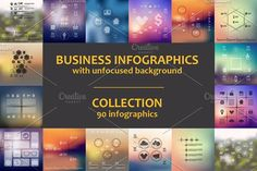 90 BUSINESS INFOGRAPHICS. Collection by Palau on @creativemarket