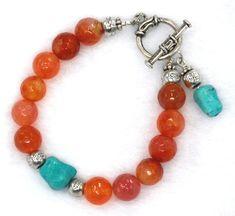 Orange Agate and Turquoise