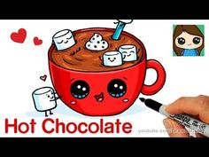 How to Draw Spaghetti and Meatballs step by step Easy - Fun Food with faces - YouTube