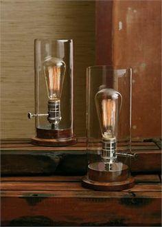 Statt einer Gaslaterne, einfach eine schöne Vintage Glühbirne montiert.