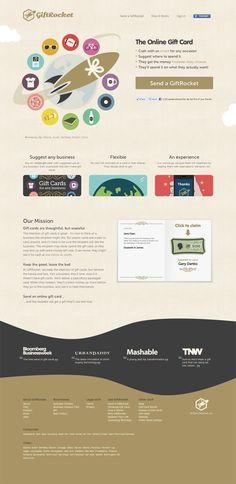 Unique Web Design on the Internet, Gift Rocket #webdesign #websitedesign #website #design http://www.pinterest.com/aldenchong/