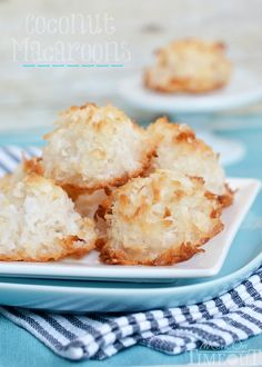 Best Coconut Macaroons EVER! Perfectly toasted on the outside and chewy in the center. | MomOnTimeout.com | #coconut #recipe #candy