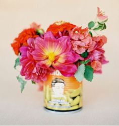 but fun fiesta inspired wedding ideas, mexico wedding ideas, spanish wedding ideas, cinco de mayo party ideas Wedding Colors, Wedding Styles, Wedding Flowers, Wedding Bouquet, Deco Floral, Floral Design, Image Deco, Colorful Roses, Bright Flowers