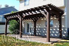 Entertainment Size Pergola Kit Pictures Gallery | Western Timber Frame - richens1_10x29