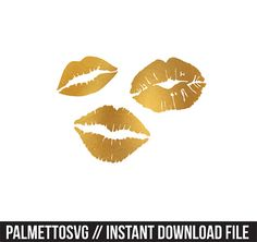 lips gold foil clip art, Svg, Cricut Cut Files, Silhouette Cut Files  This listing is for an INSTANT DOWNLOAD. You can easily create your own clip