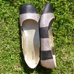 DIY sparkle shoes
