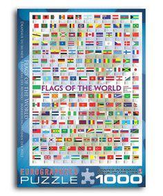 Look at this #zulilyfind! Flags of the World 1000-Piece Puzzle #zulilyfinds