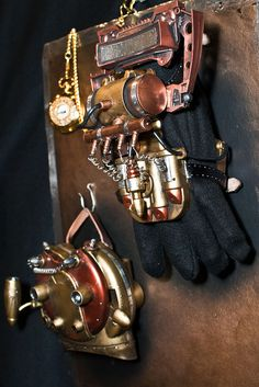 steampunk gloves by gtrwndr87, via Flickr.