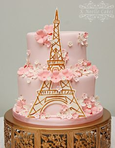 Eiffel Tower cake by K Noelle Cakes