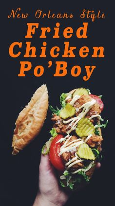 National Fried Chicken Day Recipes! chicken po'boy grilled cheese social