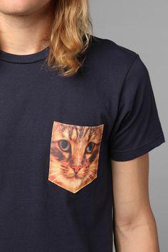 Cat Pocket Tee