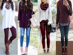 How to wear maroon , how to style your burgundy outfits
