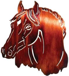 Horse Bust Laser-Cut Wall Sculpture by Lazart