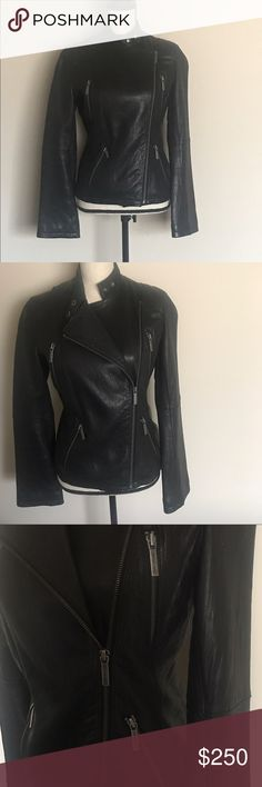 MICHAEL by Michael Kors Leather Jacket - AUTHENTIC Authentic MICHAEL by Michael Kors leather biker jacket. Very minor wear. MICHAEL Michael Kors Jackets & Coats