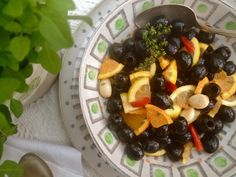 Marinated Olives with Citrus & Peppercorns via @MaryamSinaiee1