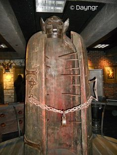Iron Maiden torture device used during the Genocide of Christian Cathars by the Catholic church
