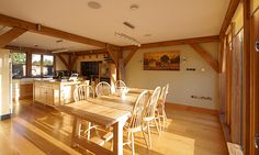 The dining room updated in 2011 The Woodhouse, Oak Framed Buildings, Dining Room, Dining Table, Build Your Own, House Design, Scrapbook, Dreams, Furniture
