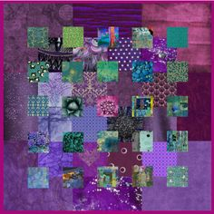 collage #purple #collage #quilt #art