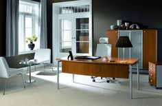 "Oko means ""eye"". The distinctive design feature of this stylish desk is the ""eye"" at the top of the tubular leg frame.  http://maxfurniture.co.uk/workstations_oko"
