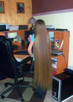 cheveux tres long lisse