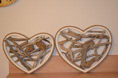 Pair of driftwood hearts / Driftwood heart / wedding by JasonLab