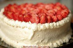 notatki kulinarne: Tort śmietanowo cytrynowy z truskawkami