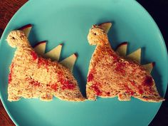 Dinosaur toast!