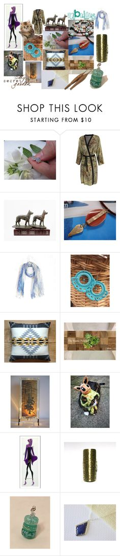"""""""My Secret Garden"""" by anna-recycle ❤ liked on Polyvore featuring Pendleton, Campanile, modern, rustic and vintage"""