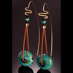 """Turquoise Gallery - c h r i s c a r l s o n s t u d i o: natural Chinese turquoise """"wheels"""""""