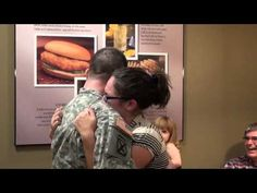 Soldier Coming Home --- surprises wife at Chick Fil a