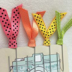 Ribbon Paperclips Set of 4 Tutti Fruity by PerfectPaperie