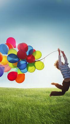 Colorful balloons = Joy