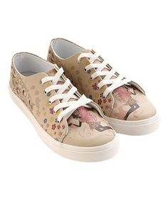 Look what I found on #zulily! Beige & Pink Fairy Sneaker by Goby #zulilyfinds