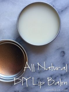 This all natural beeswax lip balm is SUPER easy to make and will keep your kisser protected all winter long. Instructions and video.